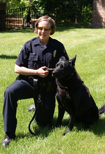 Officer Jennings and K9 Sieger