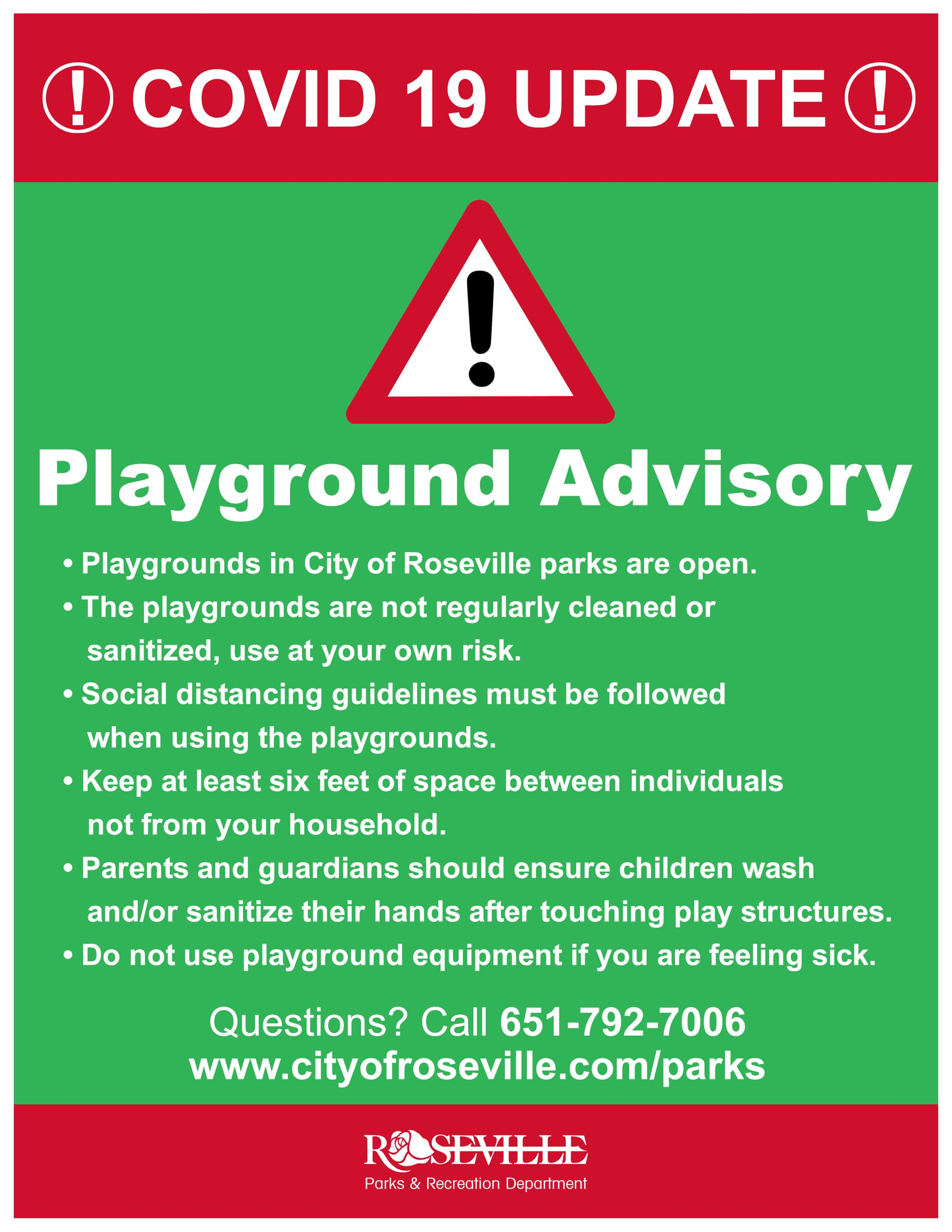 Playground open at own risk 8.5-11