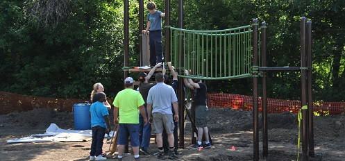 Bruce Russell playground build